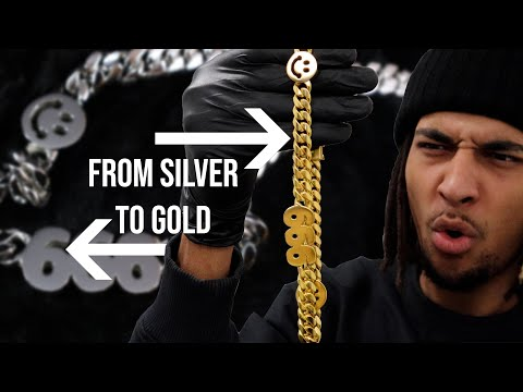 MAKING A CUSTOM GOLD (PLATED) CUBAN CHAIN + GIVEAWAY