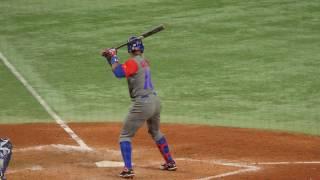 キューバ代表 俊足サントスの走り打ちと一塁到達タイム