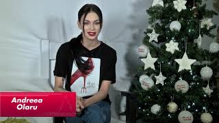 Andreea Olaru va doreste ca Anul Nou sa va aduca iubire si fericire!