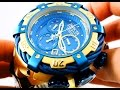 Invicta Thunderbolt Reserve Men's Gold Watch 21368