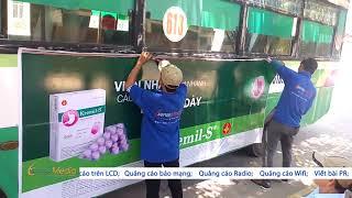 Thi công dán decal quảng cáo trên xe buýt [SSM.VN]