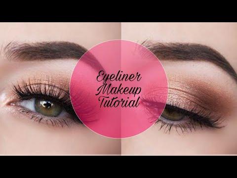 Eyeliner tutorial   Maybelline New York the colossal liner   easy make up tutorial..
