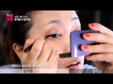 韩国女孩-化妆技巧(双眼皮vs大眼妆)-女生必看@@