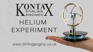 Helium Experiment with a Stirling Engine  (Kontax Engineering Ltd engine)