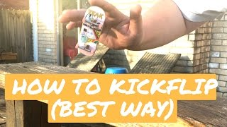 how to kickflip on a fingerboard 2016 best easiest way