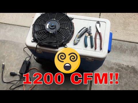 Cheap Portable Air Conditioner, 1200 CFM Shop/Car/Home Ice Cooler AC