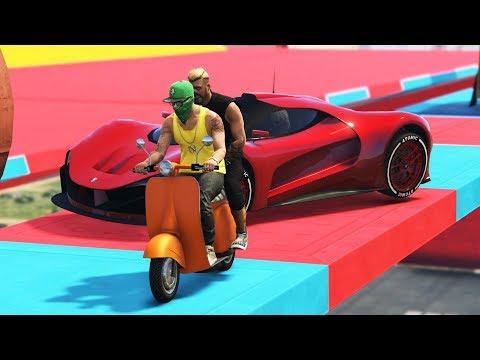 FAGGIO VS AUTO! IMPOSSIBILE! - GTA 5 ONLINE