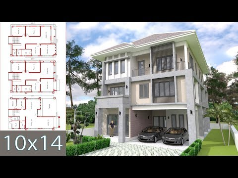 Modern 3 level house with 6 bedrooms 10x14m