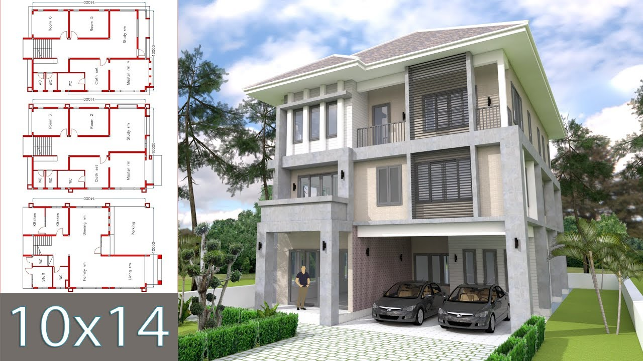 6 bedroom modern house plans modern home design 10x14m with 6 bedrooms 18028