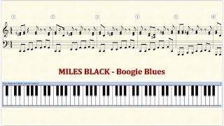 Piano Tutorial Sheet -  MILES BLACK   Boogie Blues - HD