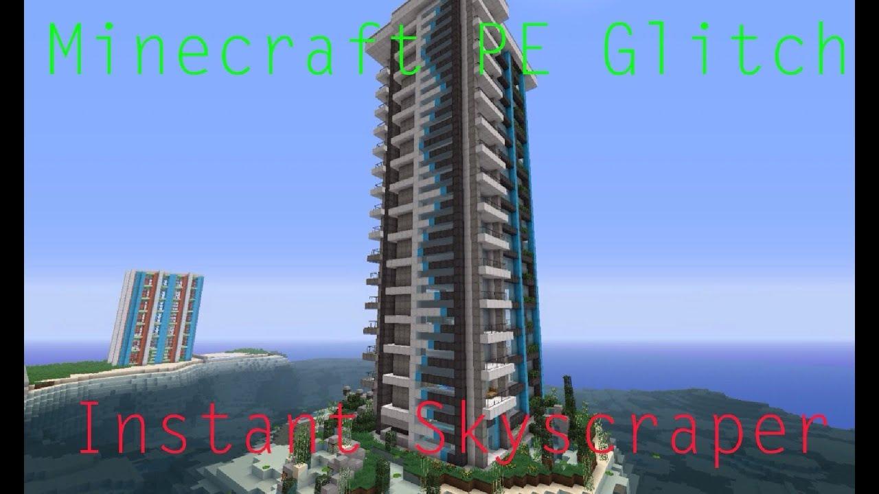 Minecraft Pe Glitch Instant Skyscraper Youtube