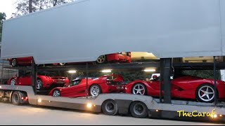 EXCLUSIVE!: LaFerrari, Enzo, F50, F40 & 288 GTO SOUND! unloading! Concours D'Elegance of Knokke