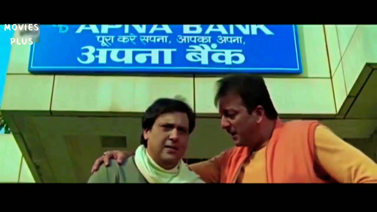 GOVINDA,SANJAY DUTT STOLED APNA BANK    FUNNY SCENE OF ...
