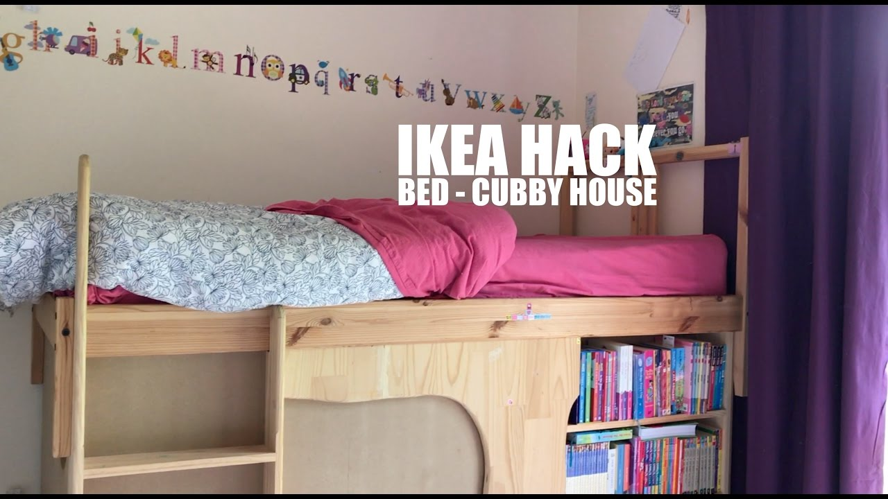 Ikea hack | Bed to Cubby House - YouTube