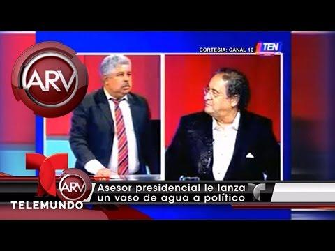 Políticos en Honduras pelean en directo en la TV | Al Rojo Vivo | Telemundo