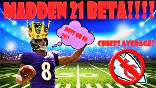 PLAYING THE #1 RANKED PLAYER + MADDEN 21 BETA!!