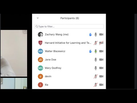 Managing raised hands in Zoom on YouTube