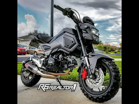 2017 honda grom Yoshimura exhaust installed walk around, review/sound clip coming soon! msx125 sf