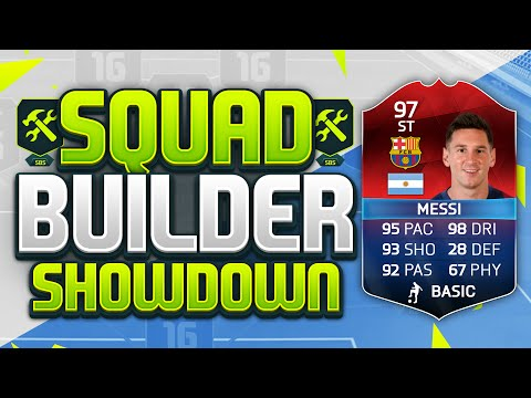 FIFA 16 SQUAD BUILDER SHOWDOWN!!! STRIKER MESSI!!! 97 Rated iMOTM Lionel Messi Squad Duel