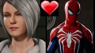 Spider Man Ps4 - Silver Sables Has A Huge Crush On Spider Man - All CutScenes