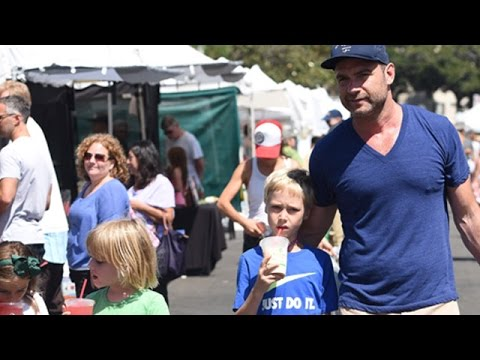 Liev Schreiber Drops By The Farmer's Market