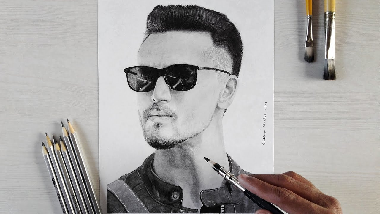 Drawing Picture Of Tiger Shroff - picture of