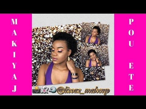 Fè do jew bèl pou ete a   Summer Makeup Look  #LissasMakeup #HaitianMUA #HaitianCreator thumbnail