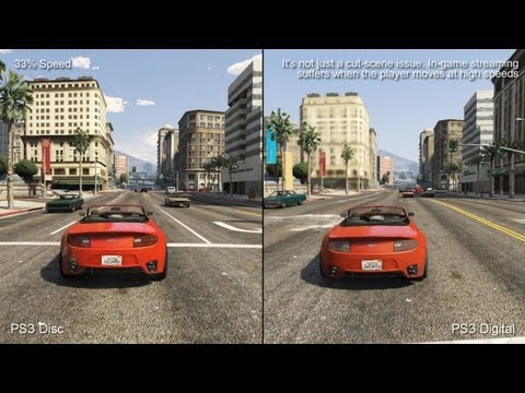 GTA 5 on PS3 disc runs noticeably better than PSN version
