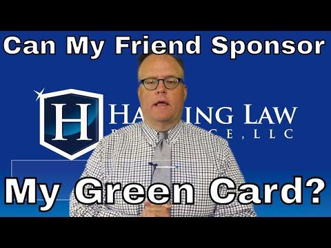 Can My Friend Sponsor My Green Card?