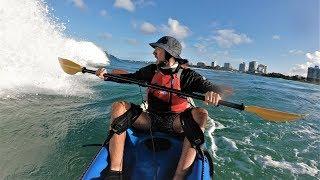 Tandem kayak surf session - preview