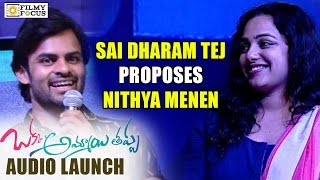 Sai Dharam Tej Indirectly Proposes to Nithya Menen - Filmyfocus.com