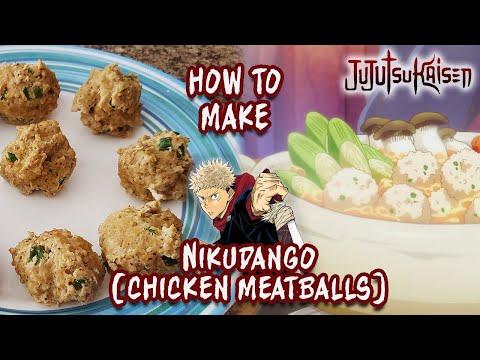 How To Make Nikudango (Japanese Meatballs with Chicken)   Jujutsu Kaisen   Anime Recipes