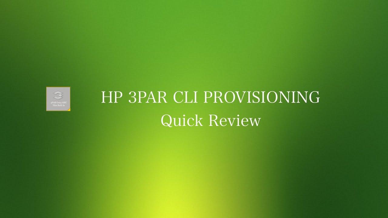 hp 3par cli commands