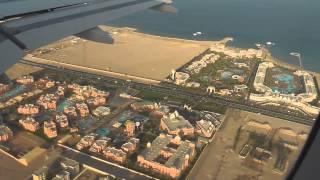 Anflug über die Hotelzone Hurghada