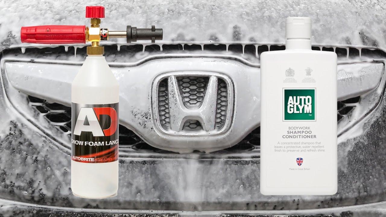 snow foam lance test autoglym bodywork shampoo. Black Bedroom Furniture Sets. Home Design Ideas