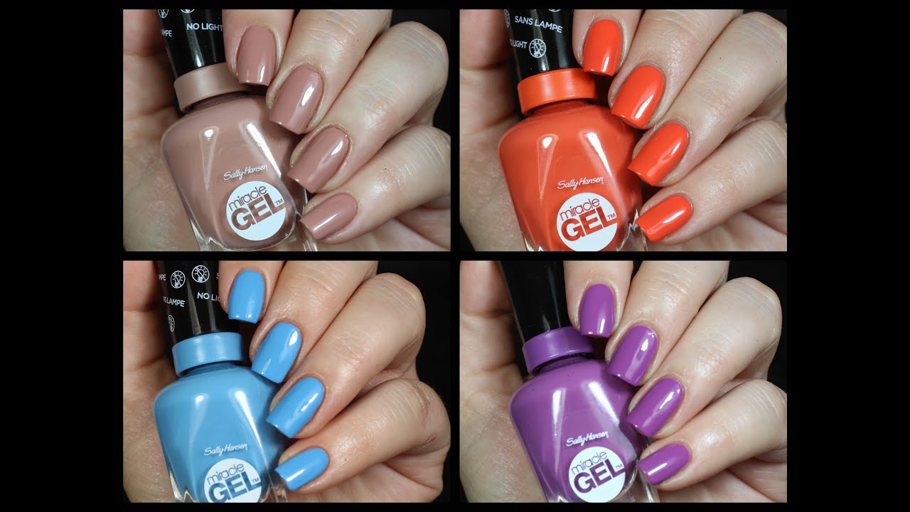 Sally Hansen Miracle Gel Polish Live Swatch Review