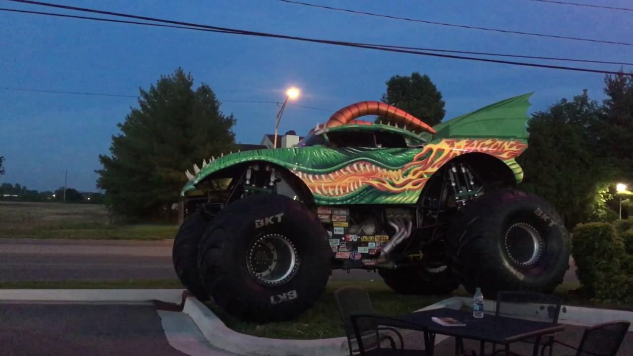 Monster Truck Shooting Flames Youtube