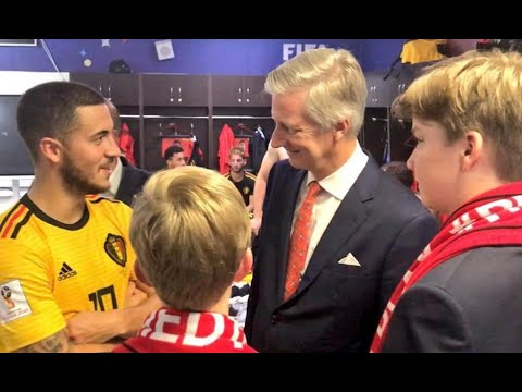 King Philippe and sons watch Belgian football victory in Russia