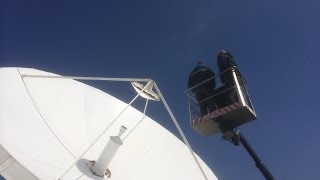 Installation of a refurbished Vertex 9m Earth Station antenna by Skybrokers