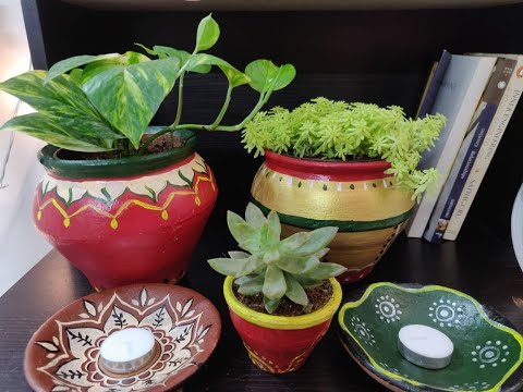 diy-painted-terracotta-pots-|-easy-clay-pot-painting-ideas-|-how-to-recycle-waste-pot.