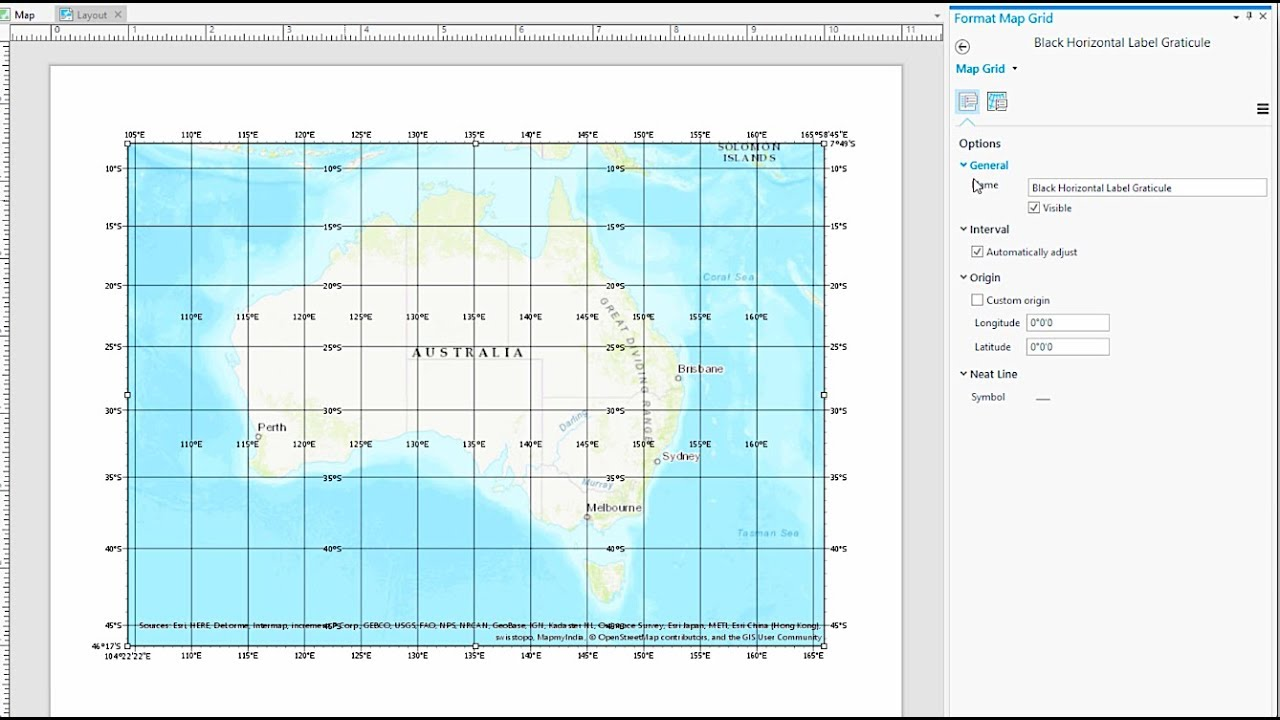 Work with a grid in ArcGIS Pro