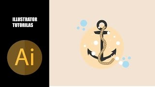 Illustrator Tutorials - How to Create a  Anchor Illustration in Adobe Illustrator