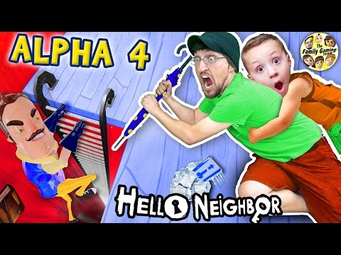 HELLO NEIGHBOR ALPHA 4! Simon Says Game? (Pt 1) Bendy Ink Machine in Basement? + FGTEEV Elevator 2.0