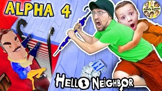 HELLO NEIGHBOR ALPHA 4! Simon Says Game? (Pt 1) Machine à encre Bendy au sous-sol?
