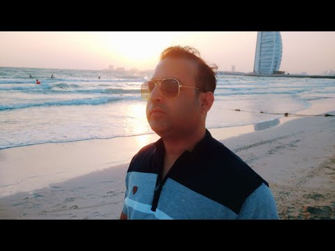 DUBAI JBR – SUNSET & THE PRIVATE BEACH OF BURJ AL ARAB JUMEIRAH (7 ★ HOTEL), DUBAI TRAVEL, PART-2😎💕
