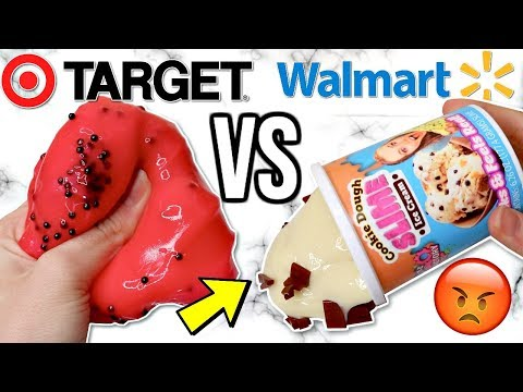 WALMART VS TARGET SLIMES! Is It Worth It?!