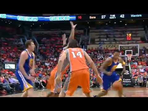 10-31-12 Brandon Rush dunks on Marcin Gortat