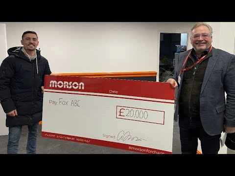 Morson presents cheque to Anthony Crolla's new Fox ABC gym!