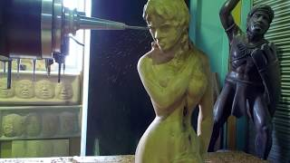 Repeat youtube video 5-Axis CNC Art [Woman]