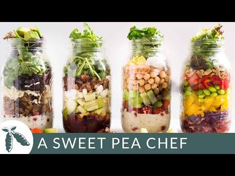 4 Easy Mason Jar Salad Recipes | Easy Meal Prep